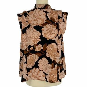 Who What Wear Floating Mums Blouse Size Small